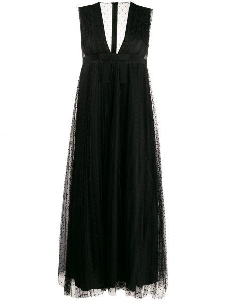 Платье миди с V-образным вырезом на молнии Redvalentino