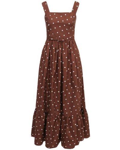 Хлопковое коричневое платье Tak.ori