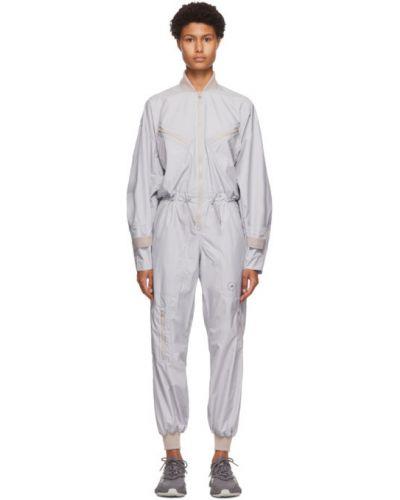 Черный комбинезон с манжетами с карманами с воротником Adidas By Stella Mccartney