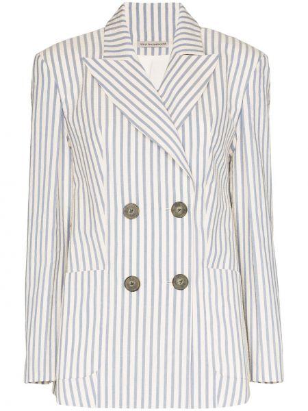 Белый пиджак двубортный на пуговицах Vika Gazinskaya