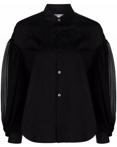 Хлопковая блузка - черная Comme Des Garçons Comme Des Garçons
