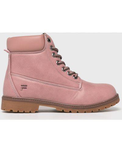 Ботинки на шнуровке трекинговые теплые Fila