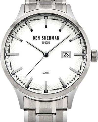 Часы водонепроницаемые белые серебряный Ben Sherman