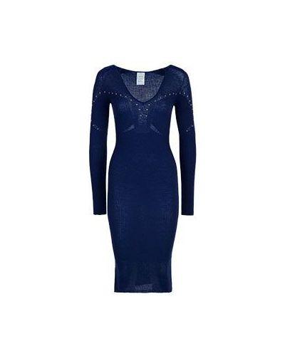Синее повседневное платье Pinko