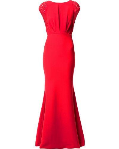 Платье мини с вырезом красный Rhea Costa