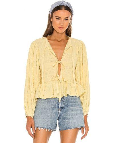 Koszulka z jedwabiu - żółta Lpa