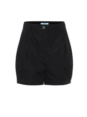 Хлопковые шорты - черные Prada