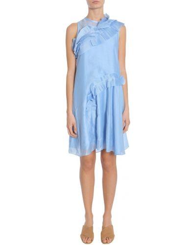 Niebieska sukienka bez rękawów Carven
