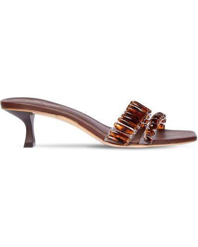 Кожаные сандалии - коричневые Cult Gaia
