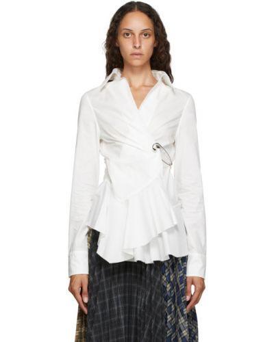 Серебряная асимметричная рубашка с воротником с длинными рукавами Marques Almeida