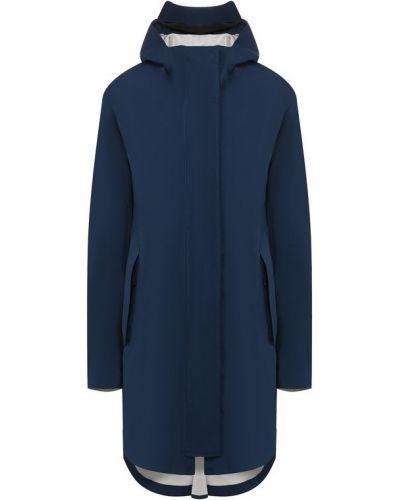 Пальто с капюшоном темно-синее синее Canada Goose