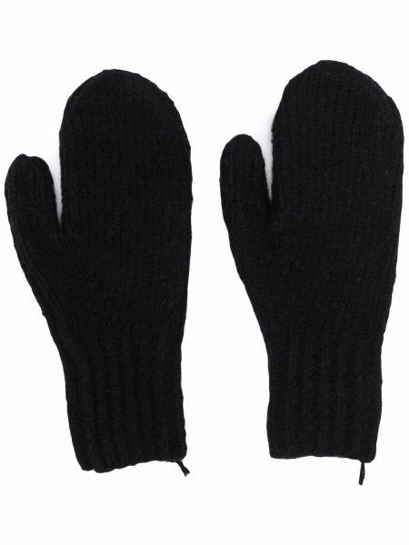 Czarne z kaszmiru rękawiczki Acne Studios