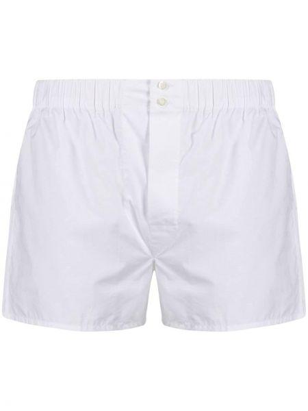Bawełna bawełna biały szorty Brioni