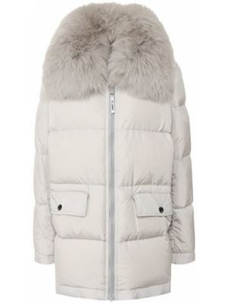 Пуховая куртка - серая Army Yves Salomon