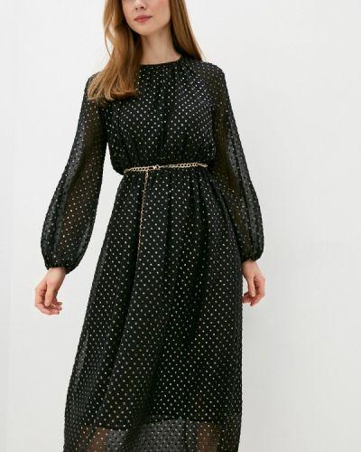Прямое черное платье Villagi