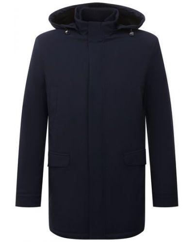 Кожаная куртка из полиэстера - синяя Andrea Campagna
