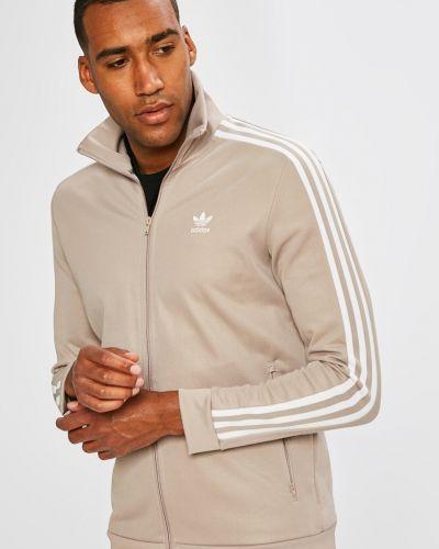 Бежевая кофта на молнии Adidas Originals