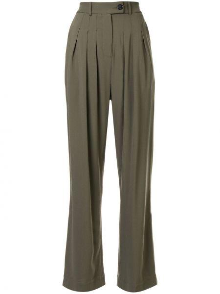 Шерстяные брюки - зеленые Strateas Carlucci