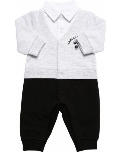 Bawełna z rękawami bawełna pajacyk z mankietami Karl Lagerfeld