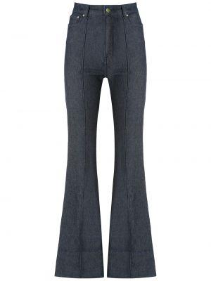 С завышенной талией синие брюки дудочки с карманами Amapô