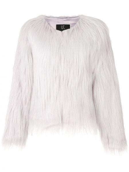 Фиолетовая короткая куртка из искусственного меха Unreal Fur