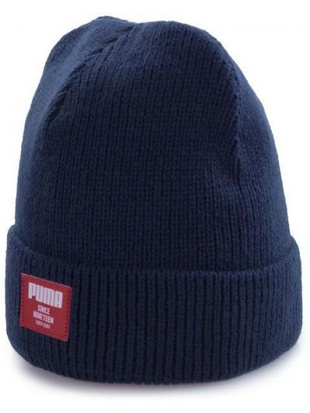 Акриловая шапка - синяя Puma