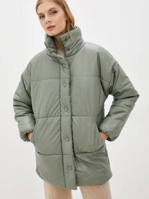 Кожаная куртка - зеленая Fresh Cotton