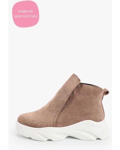 Текстильные бежевые ботинки Vivian Royal