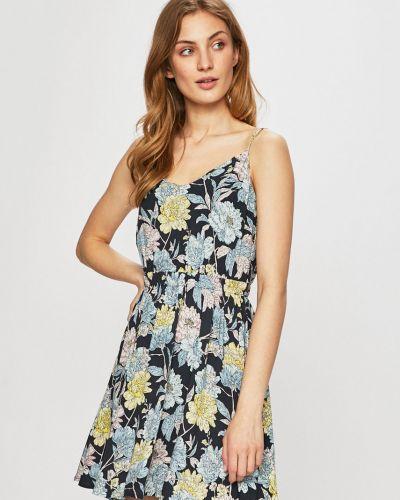 Платье с поясом из вискозы на резинке Review