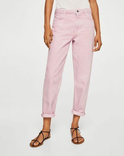Фиолетовые прямые джинсы Mango