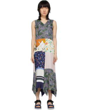 Деловое платье пэчворк с V-образным вырезом See By Chloe