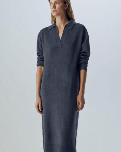 Серое итальянское платье Massimo Dutti