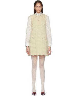 Платье на пуговицах вязаное Gucci
