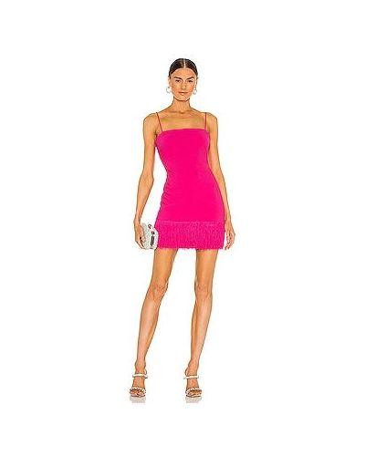 Трикотажное розовое платье мини с подкладкой Likely