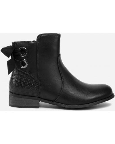 Ботинки на каблуке - черные Jenny Fairy