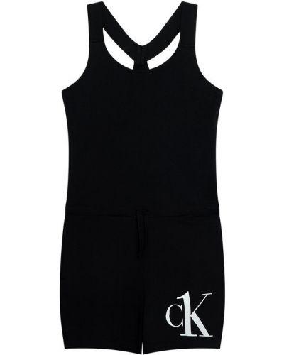 Czarny kombinezon Calvin Klein Swimwear