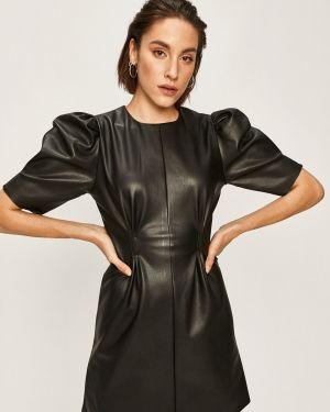 Платье мини кожаное повседневное Answear