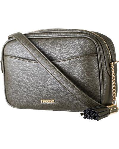 Зеленая кожаная сумка Puccini