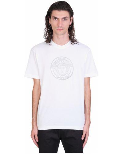 Z rękawami t-shirt z dekoltem okrągły Versace