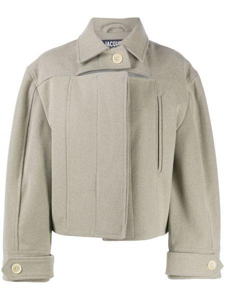 Классическая длинная куртка с манжетами с воротником на пуговицах Jacquemus
