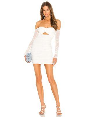 Белое платье на молнии Michael Costello