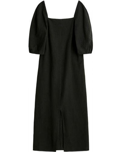 Czarna sukienka midi boho bez rękawów By Malene Birger