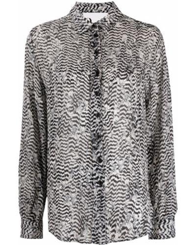 Черная классическая рубашка с воротником из вискозы 8pm