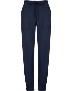 Спортивные синие зауженные брюки с поясом Jack Wolfskin