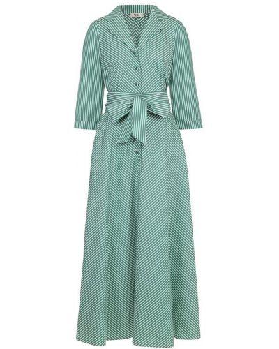 Платье с поясом платье-рубашка в полоску Weill