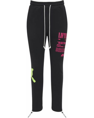Czarne joggery bawełniane Lifted Anchors