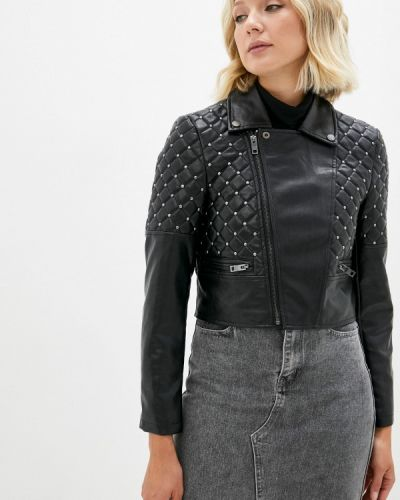 Кожаная куртка - черная Silvian Heach