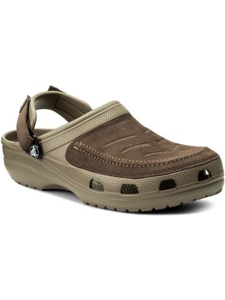 Chodaki skórzany naturalny Crocs