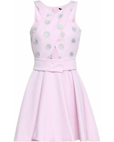 Różowa sukienka rozkloszowana z paskiem Antonino Valenti
