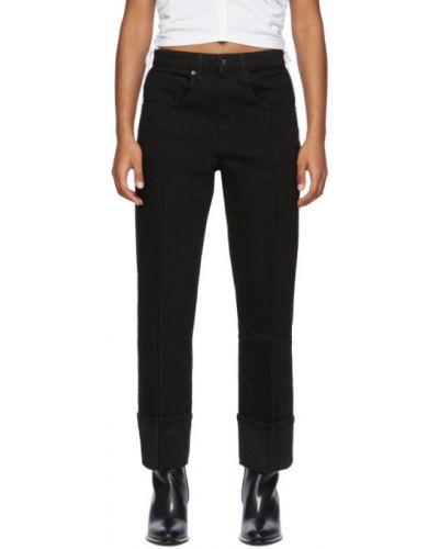Niebieski jeansy do kostek z mankietami z kieszeniami z łatami Alexander Wang